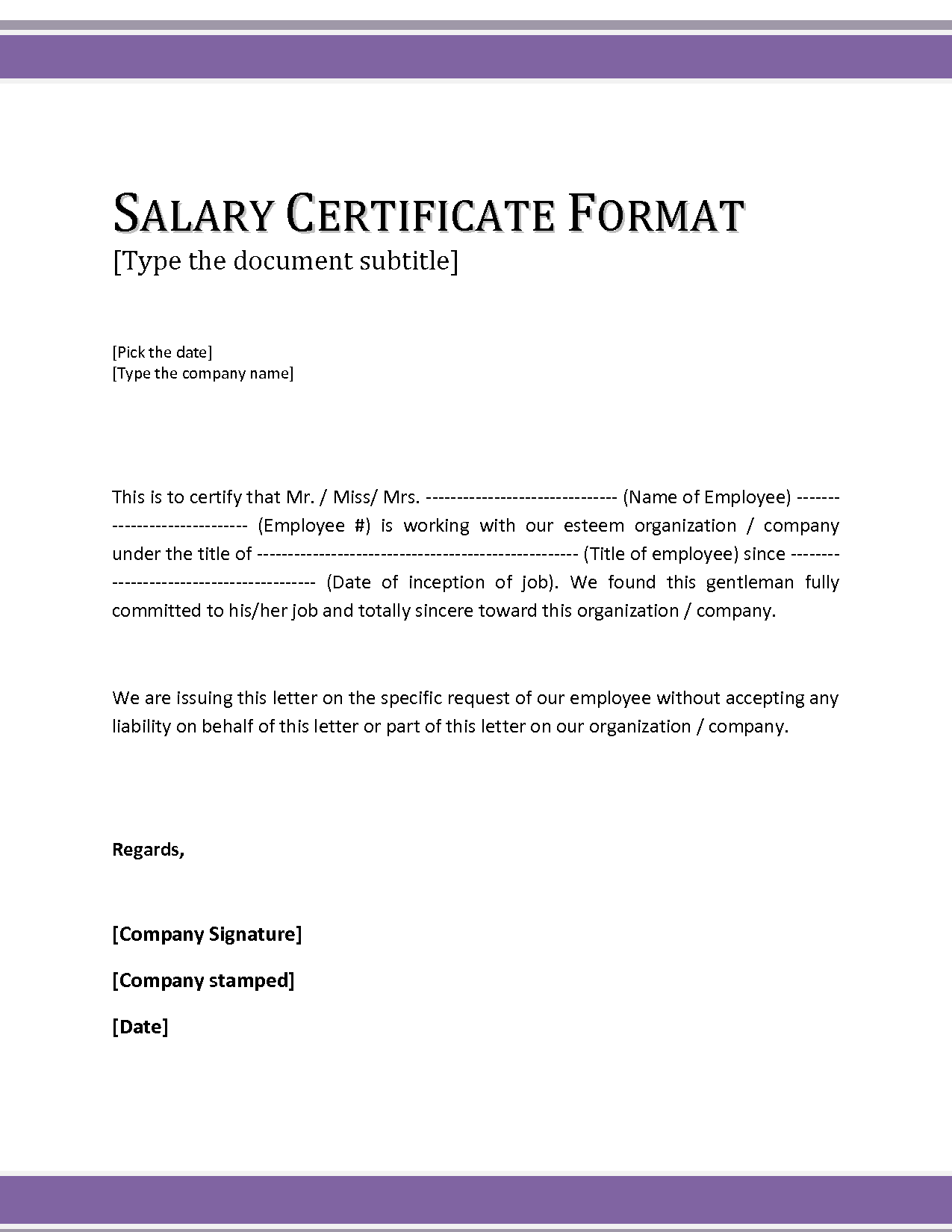 Salary Certificate Letter Format Sample 214 Legal News